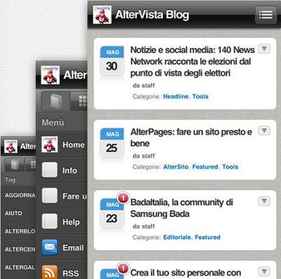 WordPress Mobile con AlterVista