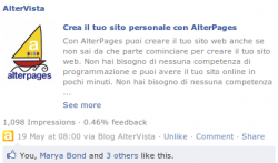 Pubblica i post su Facebook