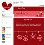 Pagina di Benvenuto Facebook di lovecook.altervista.org