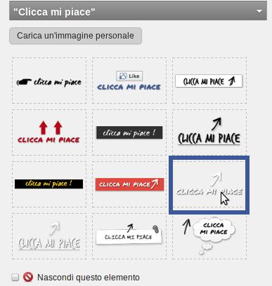 Posiziona il logo sulla pagina di Benvenuto