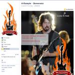 Crea pagina di Benvenuto su Facebook con AlterVista - Rock