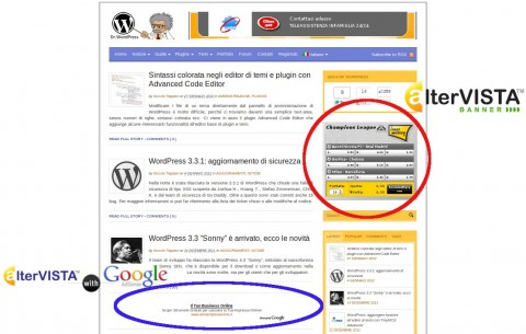 AlterVista Banner + AlterVista With Google AdSense