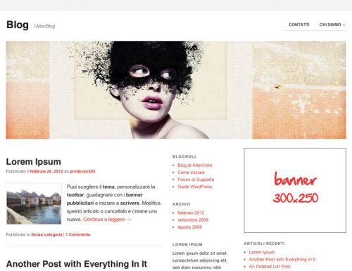 Nuovo tema AlterVista per WordPress