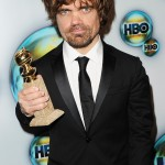 Peter Dinklage, primo nei crediti per la seconda stagione di Game Of Thrones, con il suo 2012 Golden Globe Award
