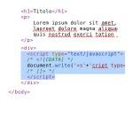 5: Incolla il codice nella pagina html