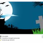 Sposta l'immagine dove vuoi - crea copertina Facebook Halloween
