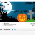Inserisci un testo - crea copertina Facebook Halloween