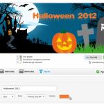 Scegli font e dimensioni - crea copertina Facebook Halloween