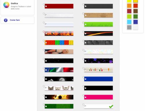 Nella toolbar potrai mettere cosa vuoi, cosa ci vuoi mettere?