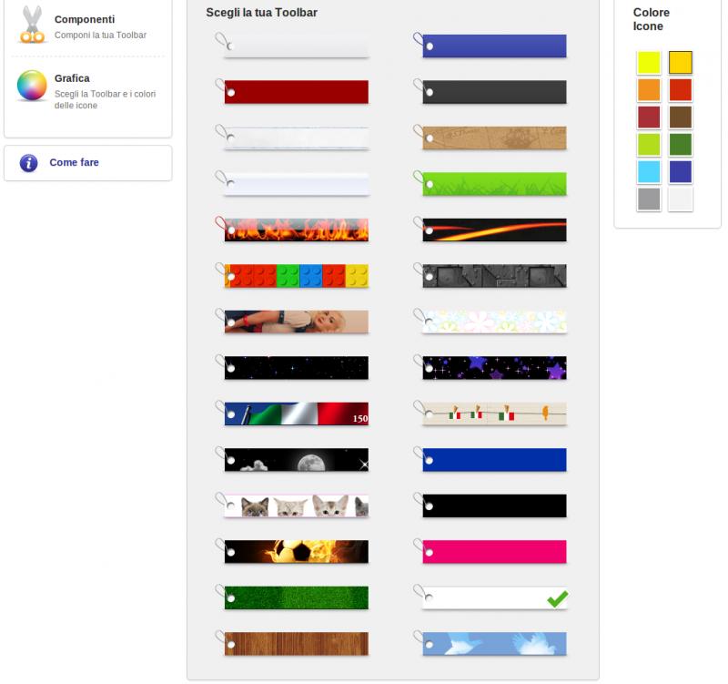 Crea la tua toolbar - AlterVista