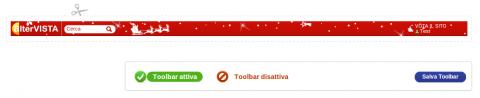 La toolbar di Natale