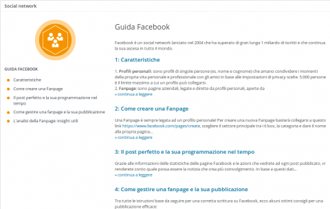 wordpress blog guida facebook