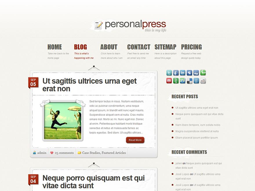 PersonalePress, Elegant Themes gratis su Altervista