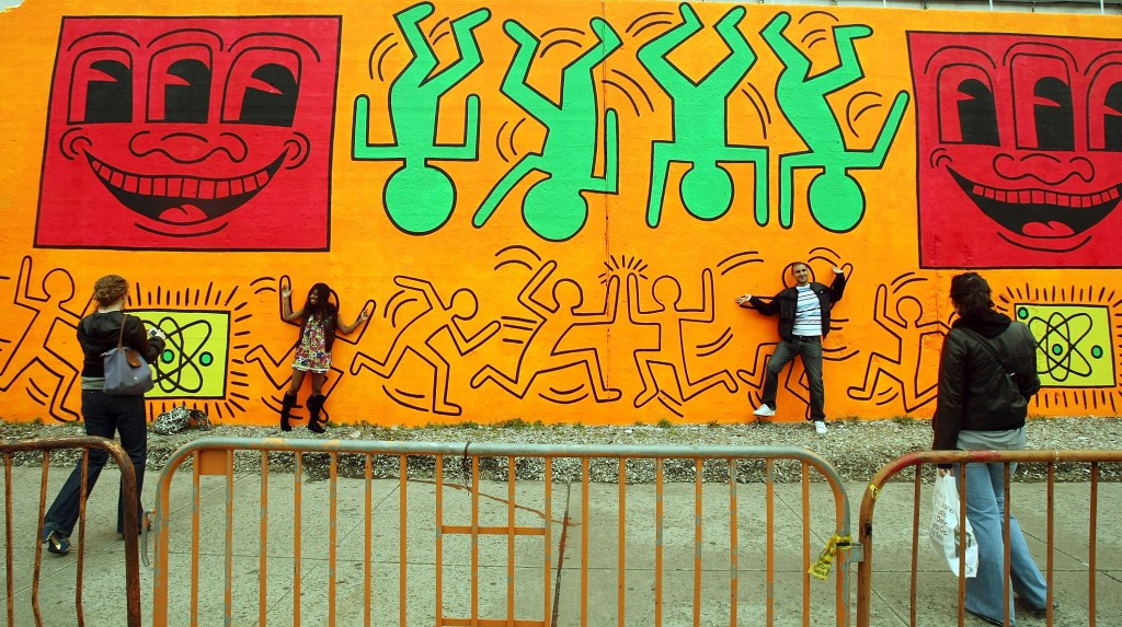 Keith Haring Street Mural Recreated In Orginal Location