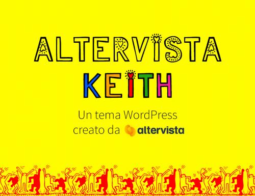 Il nuovo tema WordPress: Altervista Keith