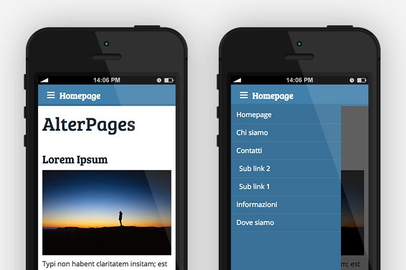 Con Alterpages il tuo sito è responsive