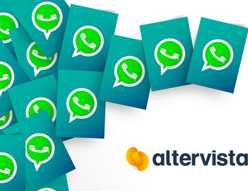 Il tasto social WhatsApp sui blog Altervista
