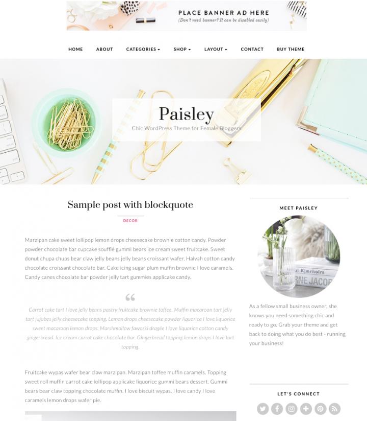 Tema WordPress responsive e professionale Paisley